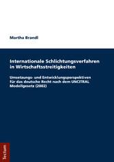 Internationale Schlichtungsverfahren in Wirtsch...