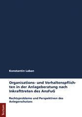 Organisations- und Verhaltenspflichten in der A...