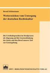 Wetterzeichen vom Untergang der deutschen Recht...