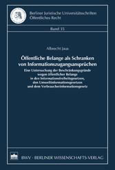 Öffentliche Belange als Schranken von Informati...