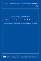 Res sacrae in den neuen Bundesländern - Rechtsf...