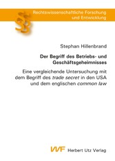 Der Begriff des Betriebs- und Geschäftsgeheimni...