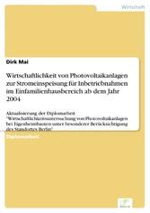 Wirtschaftlichkeit von Photovoltaikanlagen zur ...