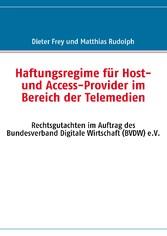 Haftungsregime für Host- und Access-Provider im...
