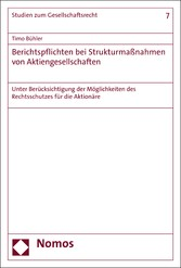 Berichtspflichten bei Strukturmaßnahmen von Akt...