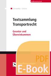 Textsammlung Transportrecht (E-Book) - Einführu...