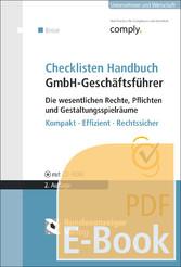 Checklisten Handbuch GmbH-Geschäftsführer - Die...