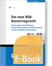 Das neue BGB-Bauvertragsrecht (E-Book) - Textau...