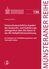 Datenschutzrechtliche Aspekte der Auskunfts- un...