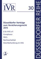 Düsseldorfer Vorträge zum Versicherungsrecht 2015