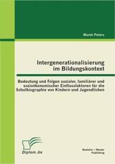 Intergenerationalisierung im Bildungskontext: B...
