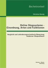 Online Shopsysteme - Einordnung, Arten und Funk...