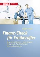 Finanz-Check für Freiberufler - weniger Steuern...