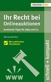 Ihr Recht bei Onlineauktionen. Juristische Tipp...