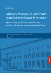 Klassische Musik in den Lebenswelten Jugendlich...