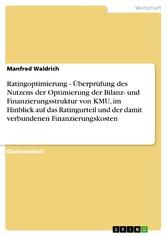 Ratingoptimierung - Überprüfung des Nutzens der...