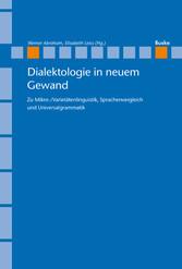 Dialektologie in neuem Gewand - Zu Mikro-/Varie...
