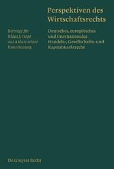 Perspektiven des Wirtschaftsrechts - Deutsches,...