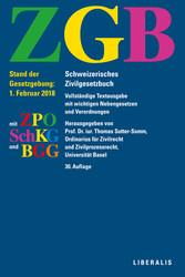 ZGB - Schweizerisches Zivilgesetzbuch mit ZPO, ...