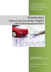 Reisekosten, Abgrenzung: Auswärtige Tätigkeit o...