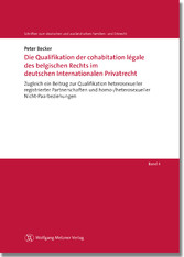 Die Qualifikation der cohabitation légale des b...