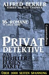 Privatdetektive - das Thriller-Ferien-Paket (16...