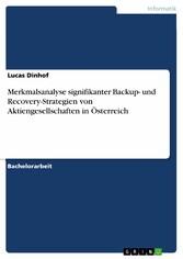 Merkmalsanalyse signifikanter Backup- und Recov...