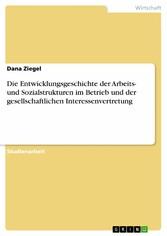 Die Entwicklungsgeschichte der Arbeits- und Soz...