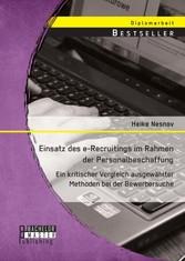 Einsatz des e-Recruitings im Rahmen der Persona...