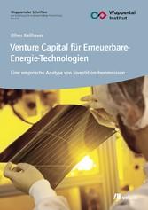 Venture Capital für Erneuerbare-Energie-Technol...