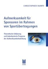 Aufmerksamkeit für Sponsoren im Rahmen von Spor...