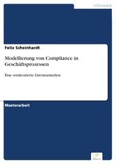 Modellierung von Compliance in Geschäftsprozess...