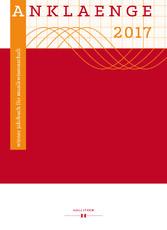 ANKLAENGE 2017. Be/Spiegelungen. - Die Universi...