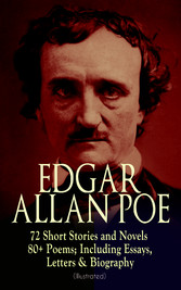 EDGAR ALLAN POE: 72 Short Stories and Novels & 80+ Poems; Including Essays, Letters & Biography (Illustrated) - Murders in the Rue Morgue, The Raven, Tamerlane, Ulalume, Annabel Lee, The Fall of the House of Usher, The Tell-tale Heart, Berenice, The