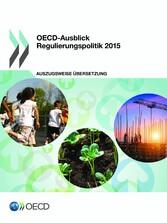 OECD-Ausblick Regulierungspolitik 2015