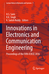 Innovations in Electronics and Communication Engineering - Proceedings of the Fifth ICIECE 2016