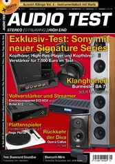 AUDIO TEST 01/2017 - Exklusiv-Test: Sony mit ne...
