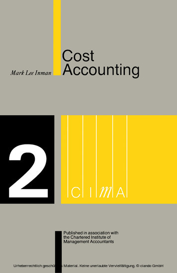methods techniques of cost accounting Cost accounting helps the business to ascertain the cost of to other modern management techniques for effi cient cost and management accounting.