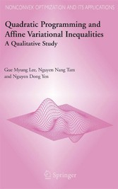 Quadratic Programming and Affine Variational Inequalities A Qualitative Study