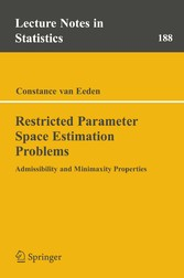 Restricted Parameter Space Estimation Problems Admissibility and Minimaxity Properties