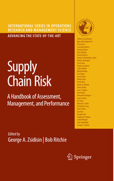 Supply Chain Risk A Handbook of Assessment, Management, and Performance