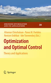 Optimization and Optimal Control Theory and Applications