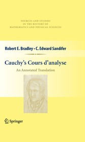 Cauchy's Cours d'analyse An Annotated Translation
