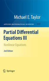 Partial Differential Equations III Nonlinear Equations