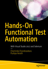 Hands-On Functional Test Automation With Visual Studio 2017 and Selenium