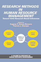 Research Methods in Human Research Management Toward Valid Research-Based Inferences