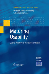 Maturing Usability Quality in Software, Interaction and Value