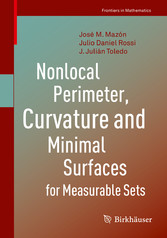 Nonlocal Perimeter, Curvature and Minimal Surfaces for Measurable Sets