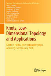 Knots, Low-Dimensional Topology and Applications Knots in Hellas, International Olympic Academy, Greece, July 2016