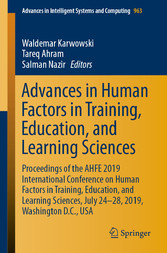 Advances in Human Factors in Training, Education, and Learning Sciences Proceedings of the AHFE 2019 International Conference on Human Factors in Training, Education, and Learning Sciences, July 24-28, 2019, Washington D.C., USA